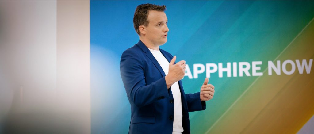 Foto de Christian Klein, CEO de SAP, en SAPPHIRE NOW