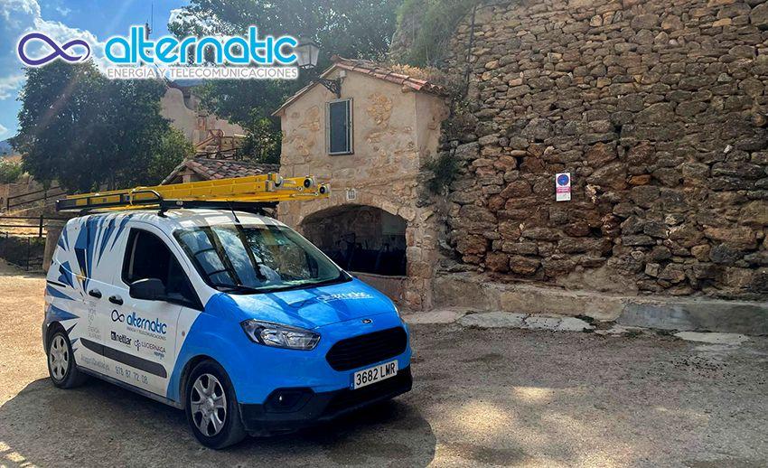 Foto de ALTERNATIC instala en Cuevas del Cañart conexión a internet